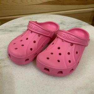 Crocs pink size junior 1 girls NWOT